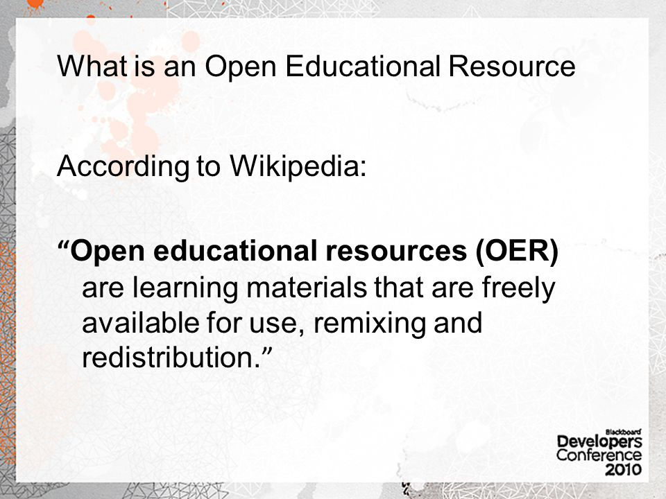 What is an Open Educational Resource