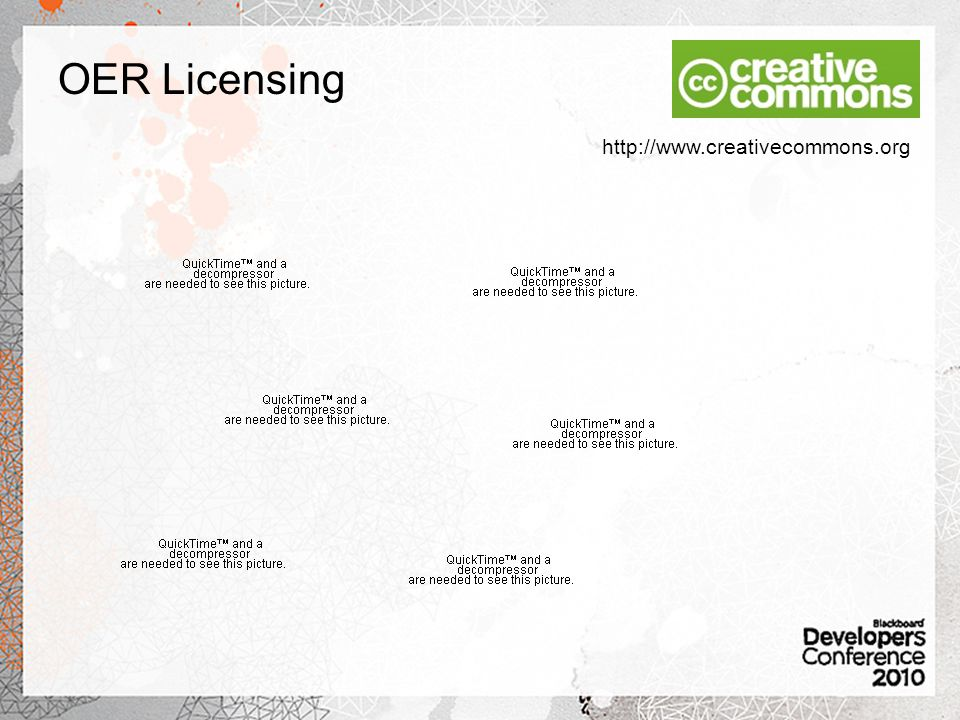 OER Licensing http://www.creativecommons.org