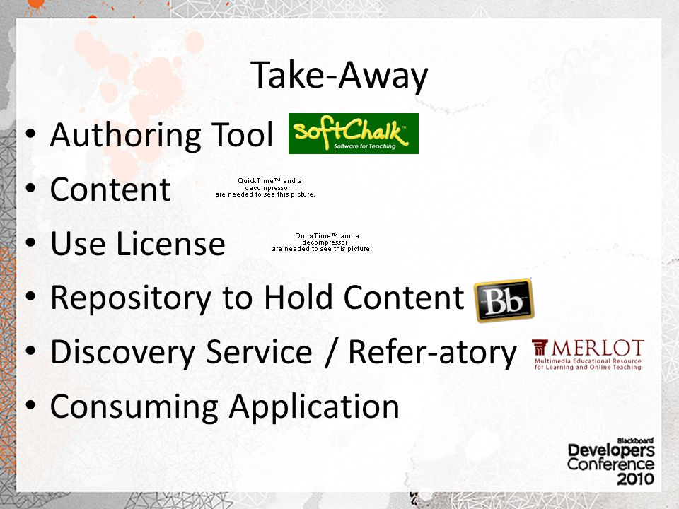 Take-Away Authoring Tool Content Use License