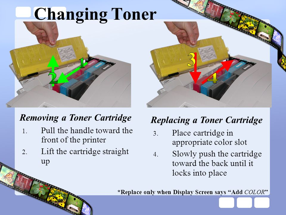 Changing Toner Removing a Toner Cartridge