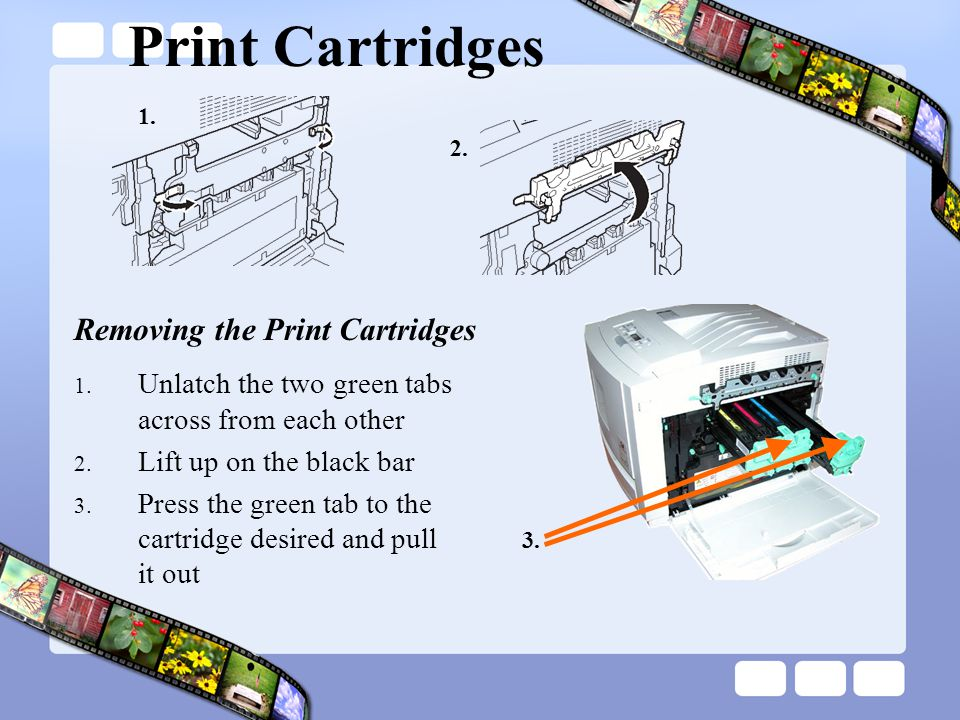 Print Cartridges Removing the Print Cartridges