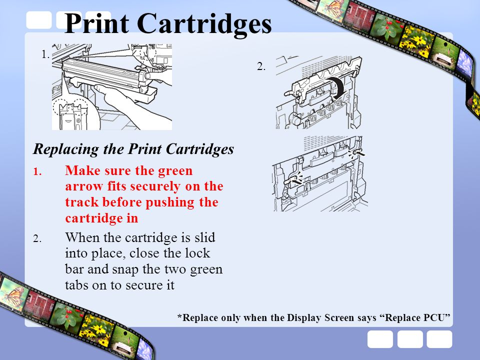 Print Cartridges Replacing the Print Cartridges