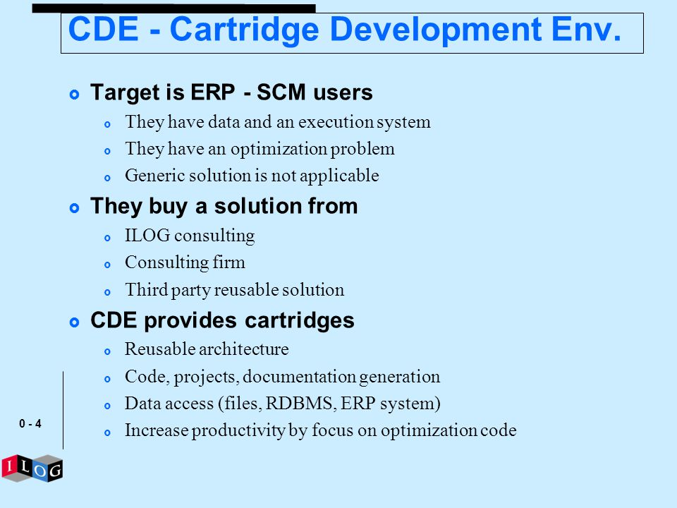 CDE - Cartridge Development Env.