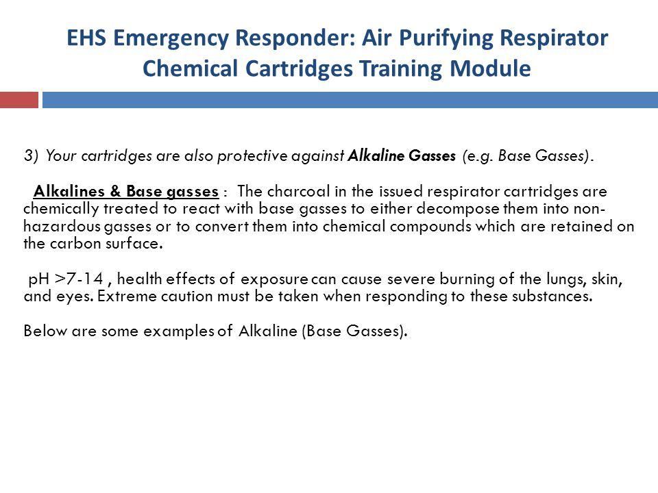 EHS Emergency Responder: Air Purifying Respirator Chemical Cartridges Training Module