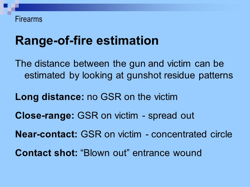 Range-of-fire estimation
