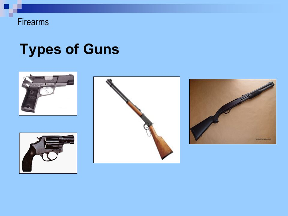 Firearms Types of Guns