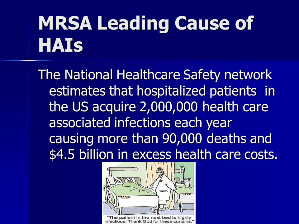 MRSA Leading Cause of HAIs