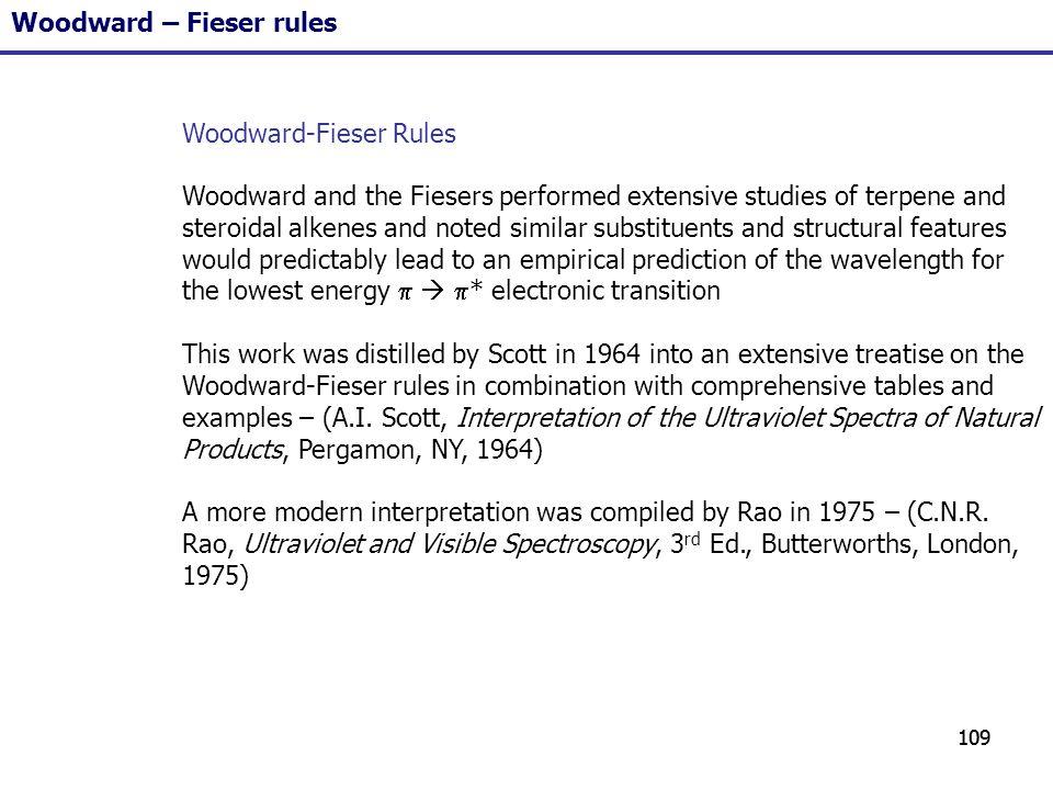 Woodward – Fieser rules