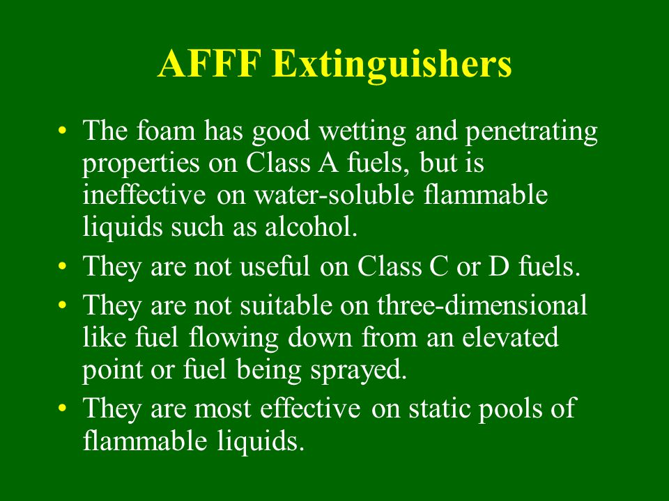 AFFF Extinguishers