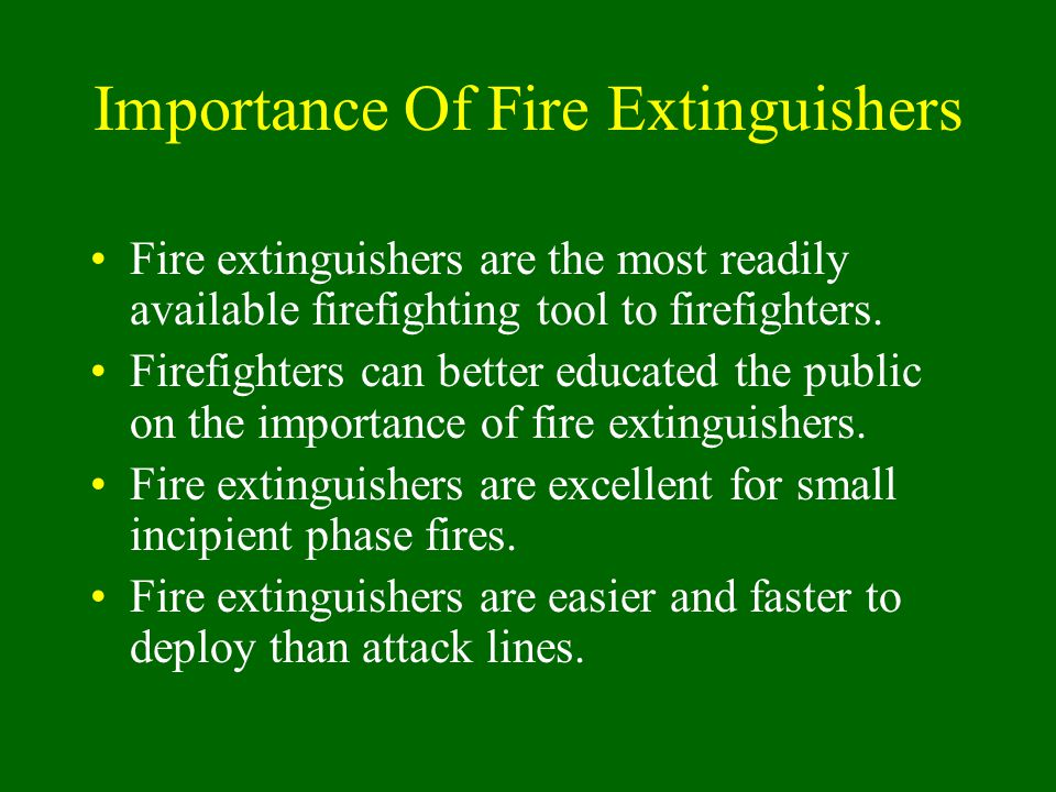 Importance Of Fire Extinguishers