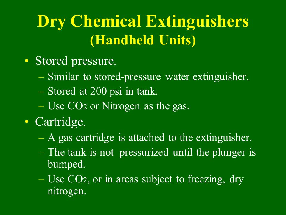 Dry Chemical Extinguishers (Handheld Units)
