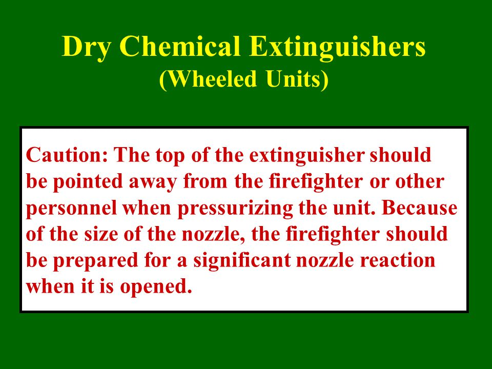 Dry Chemical Extinguishers (Wheeled Units)