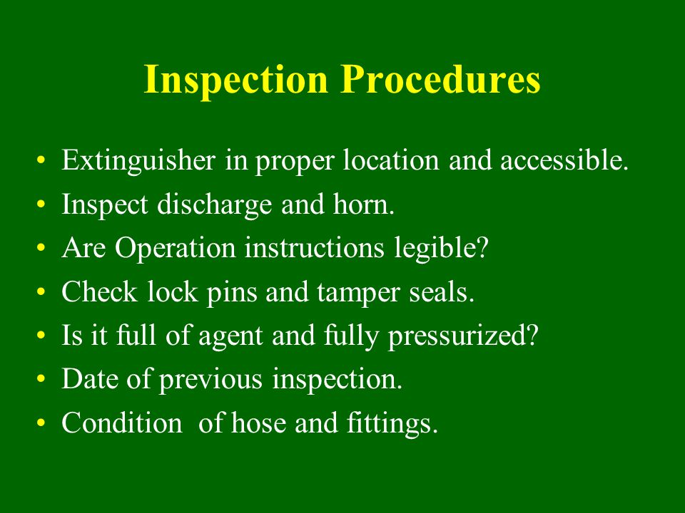 Inspection Procedures