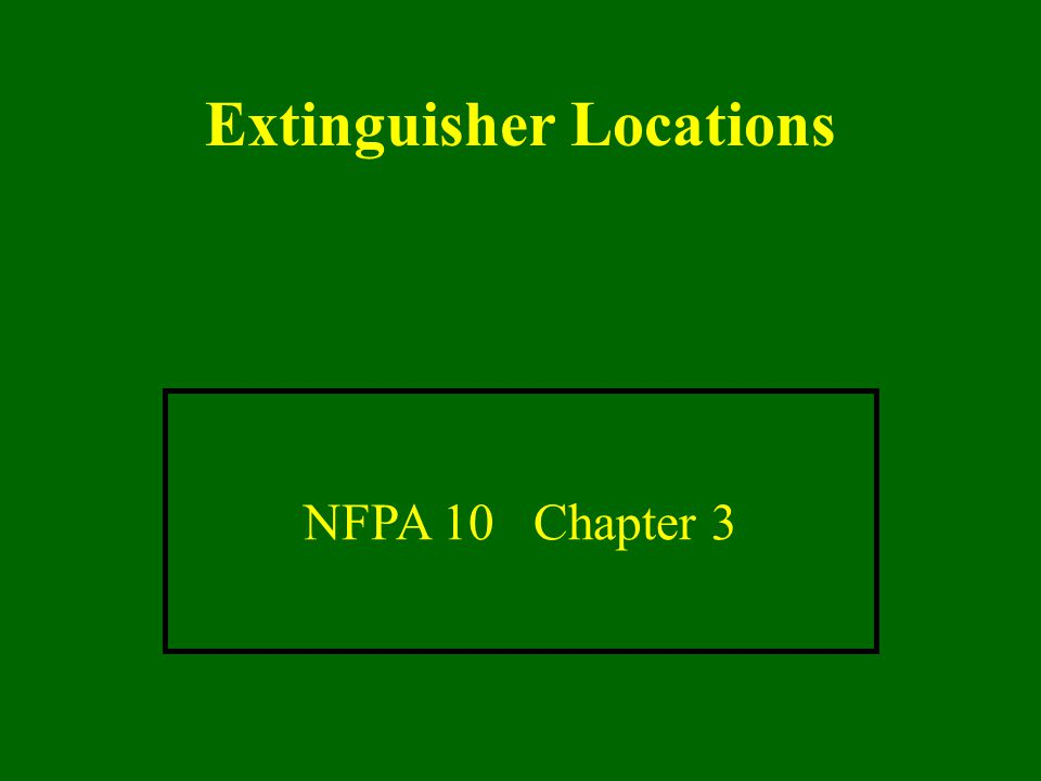Extinguisher Locations