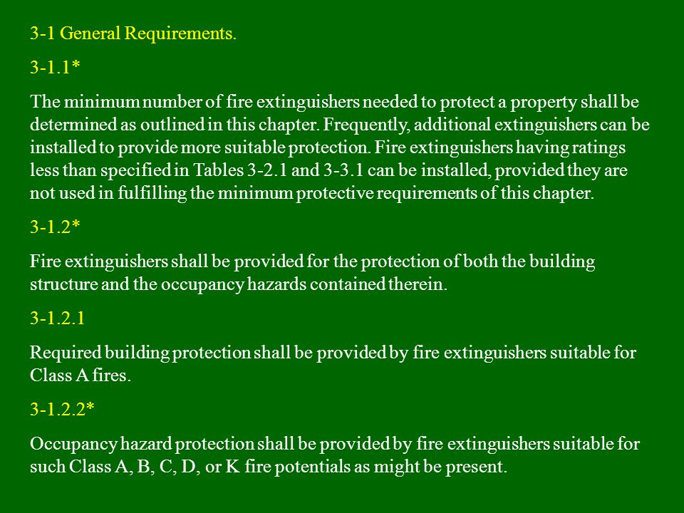 3-1 General Requirements.