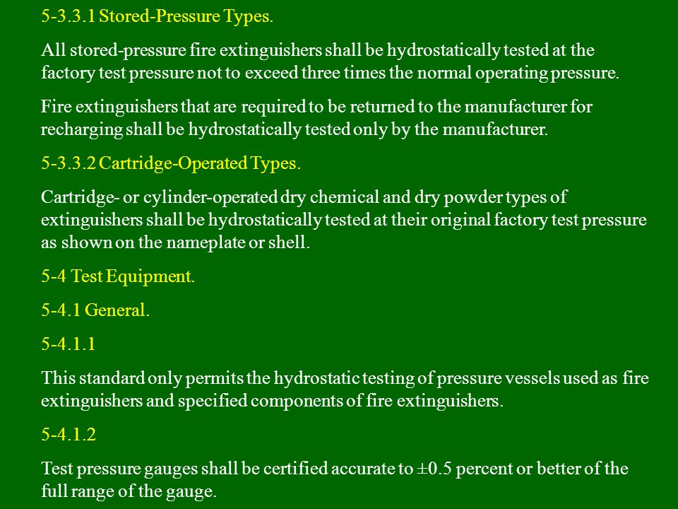 5-3.3.1 Stored-Pressure Types.