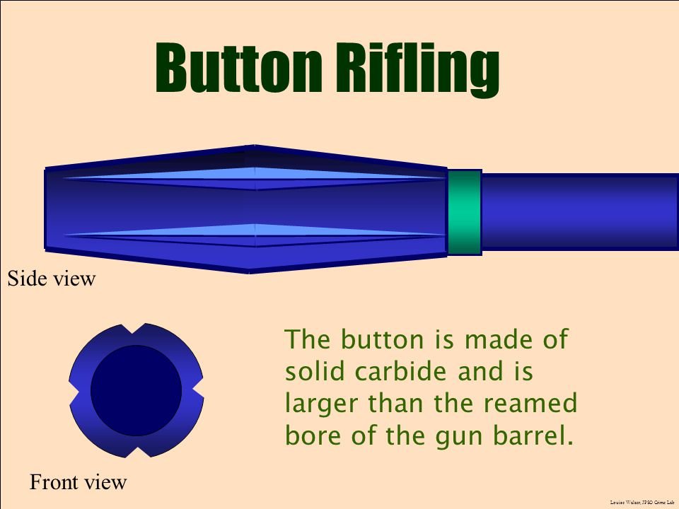 Button Rifling The button is made of
