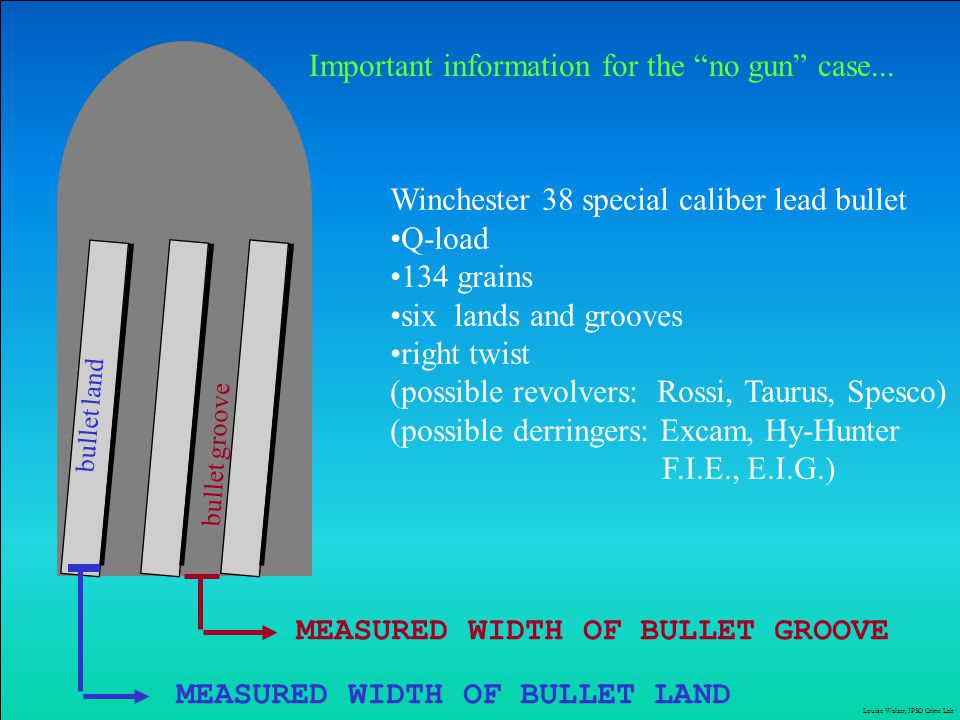 Important information for the no gun case...