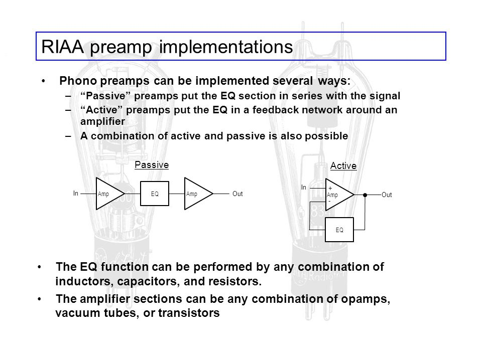 RIAA preamp implementations