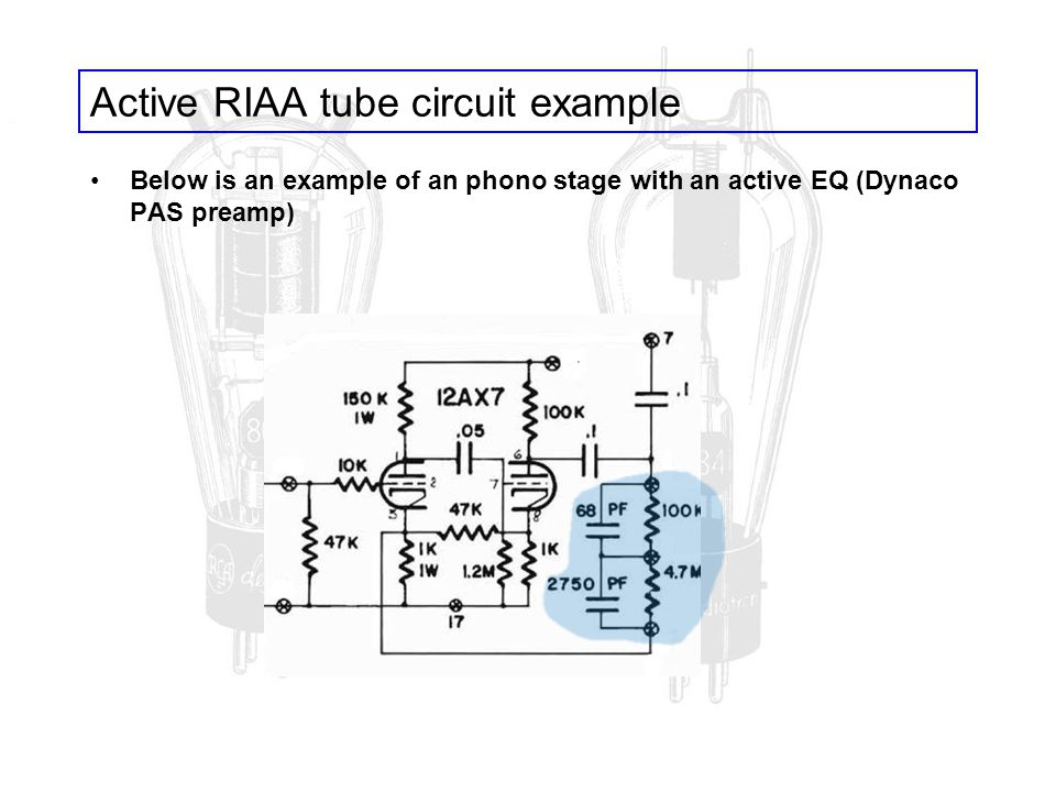 Active RIAA tube circuit example