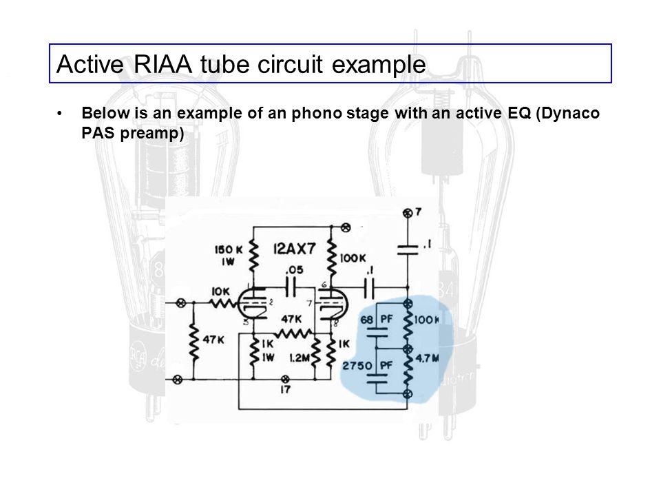 Active RIAA tube circuit example