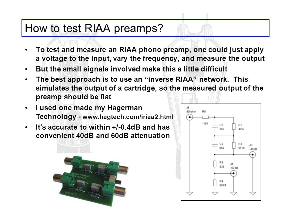 How to test RIAA preamps
