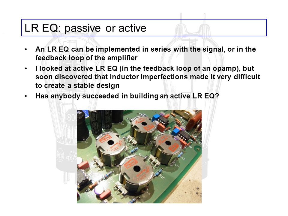 LR EQ: passive or active