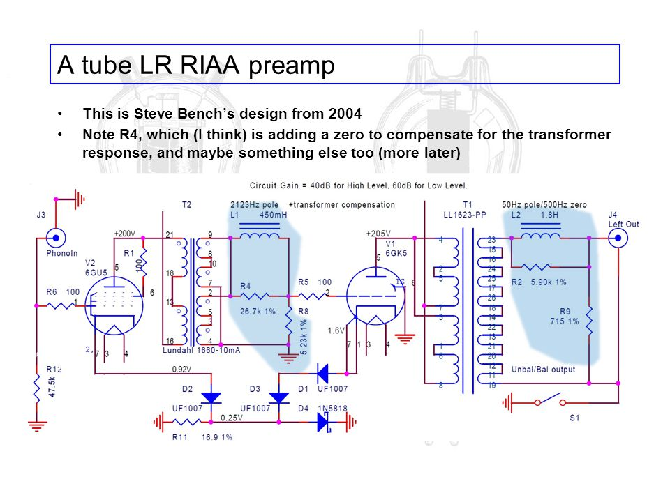 A tube LR RIAA preamp This is Steve Bench's design from 2004