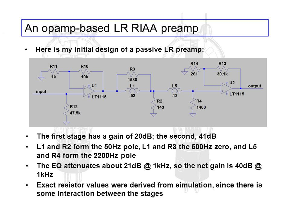 An opamp-based LR RIAA preamp