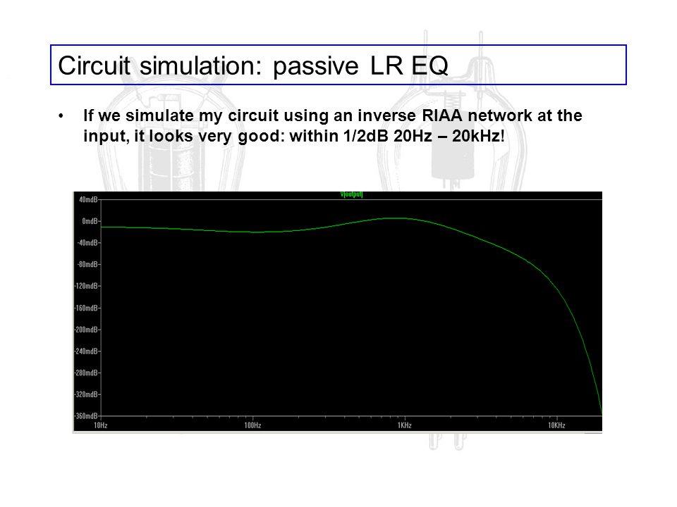 Circuit simulation: passive LR EQ