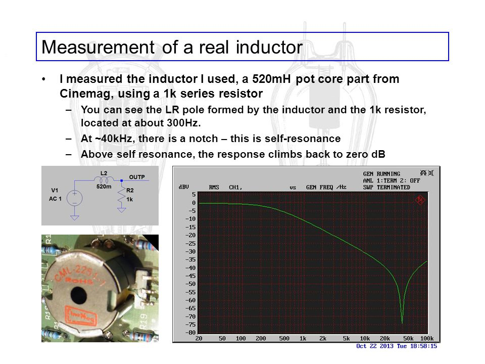 Measurement of a real inductor