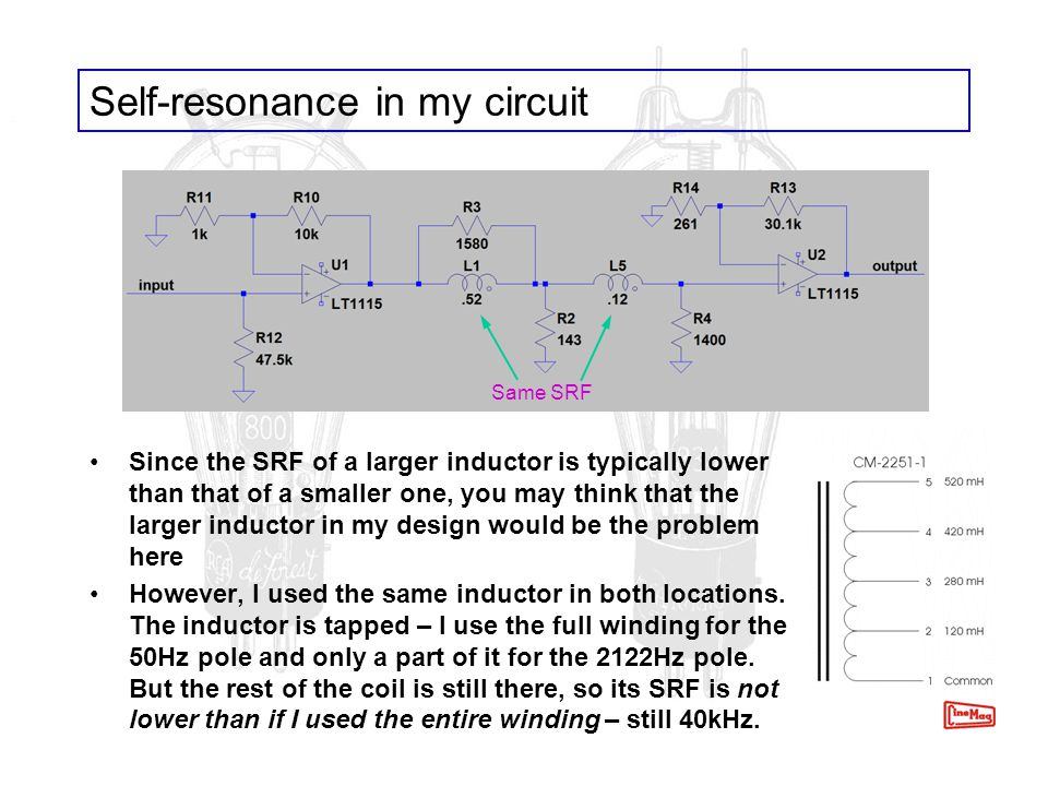 Self-resonance in my circuit