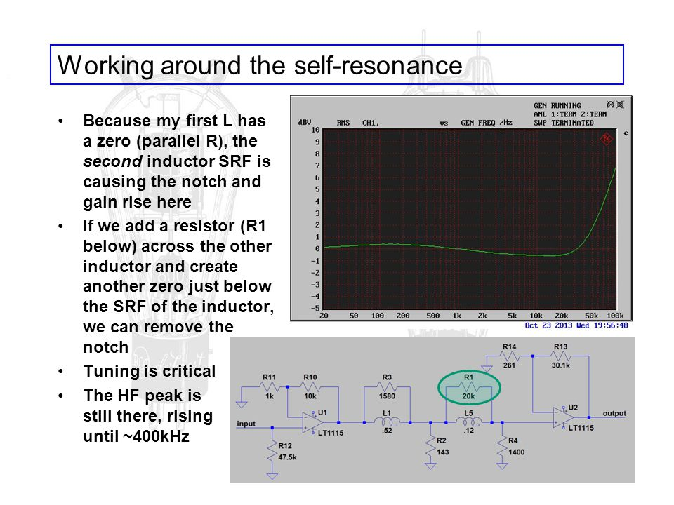 Working around the self-resonance