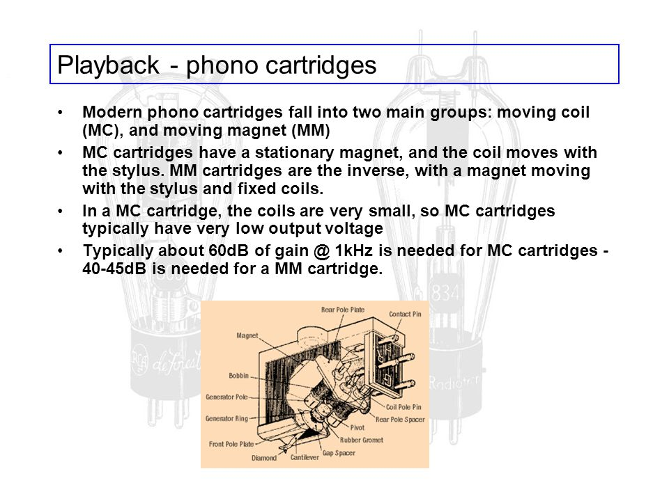 Playback - phono cartridges