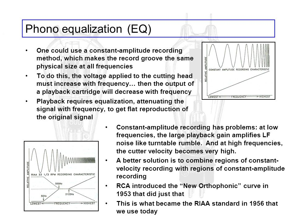 Phono equalization (EQ)