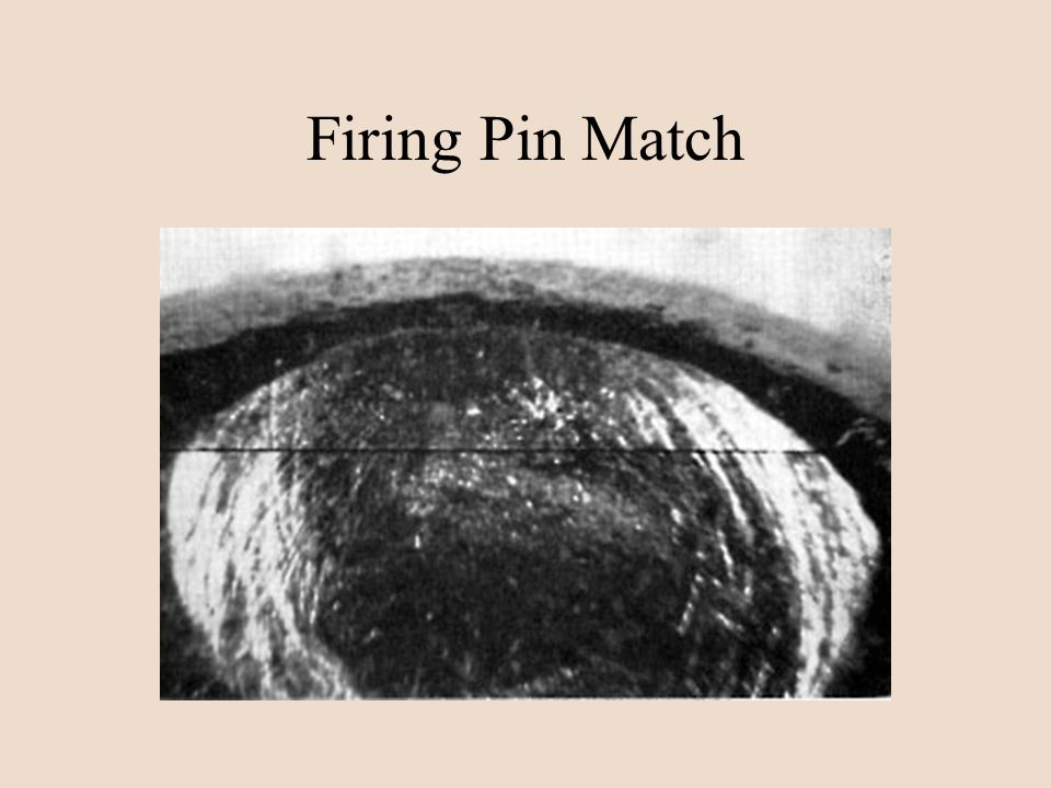 Firing Pin Match