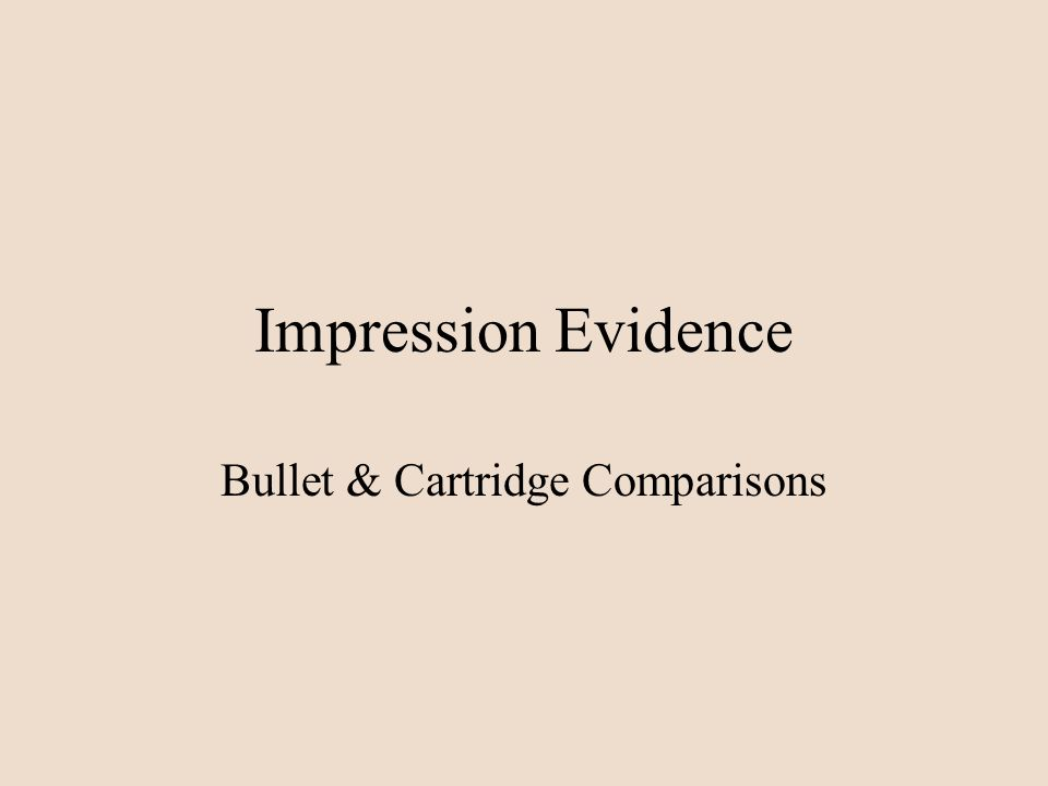 Bullet & Cartridge Comparisons