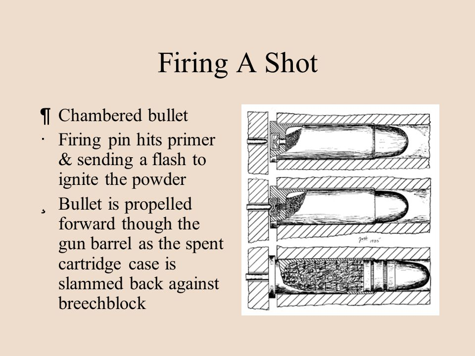 Firing A Shot Chambered bullet