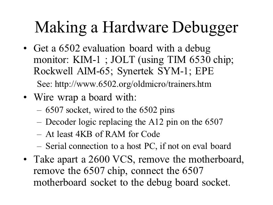 Making a Hardware Debugger