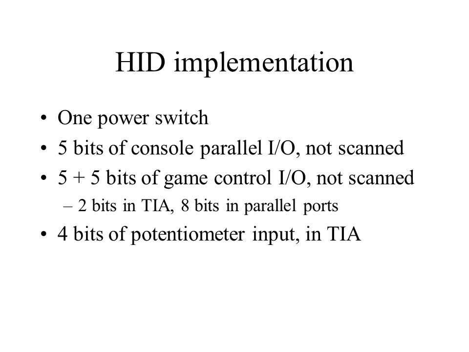 HID implementation One power switch