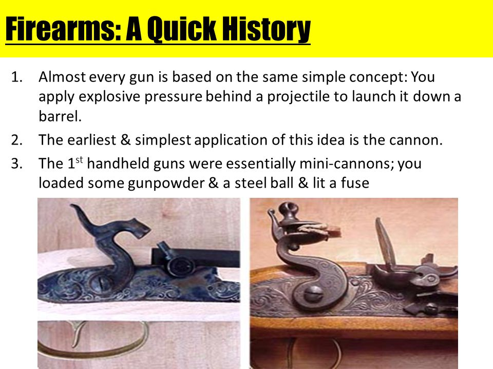 Firearms: A Quick History
