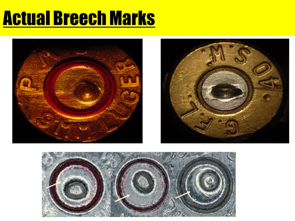 Actual Breech Marks