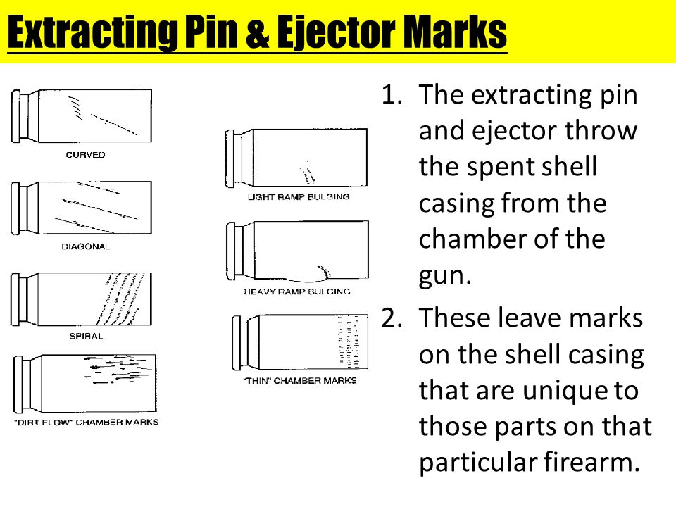 Extracting Pin & Ejector Marks