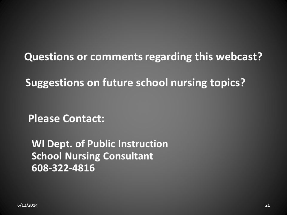 Questions or comments regarding this webcast