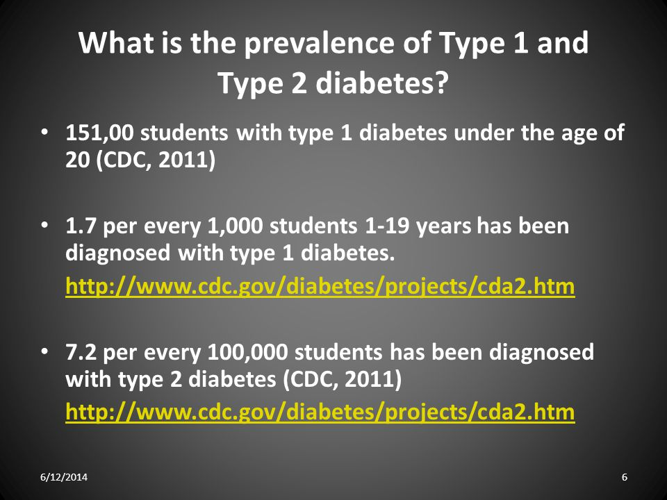 What is the prevalence of Type 1 and Type 2 diabetes