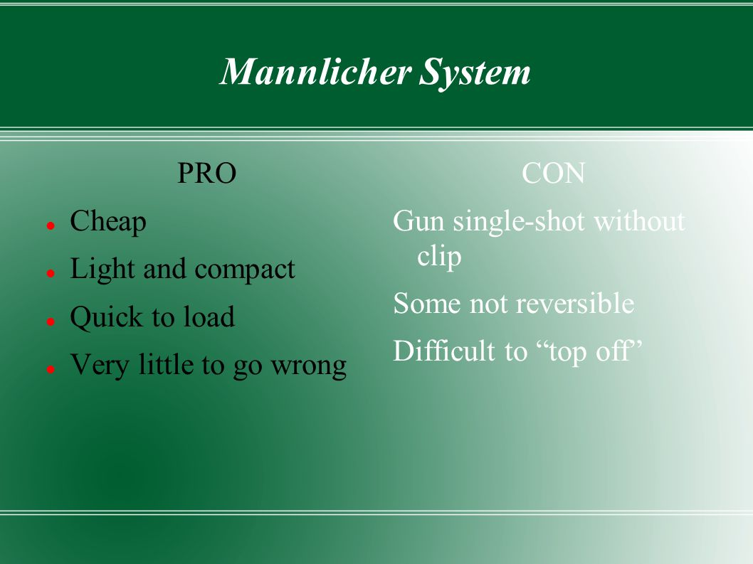 Mannlicher System PRO Cheap Light and compact Quick to load