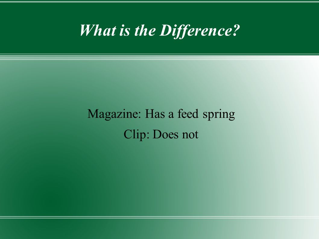 Magazine: Has a feed spring