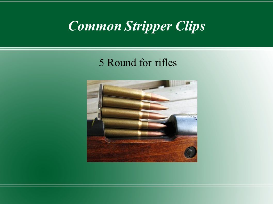 Common Stripper Clips 5 Round for rifles