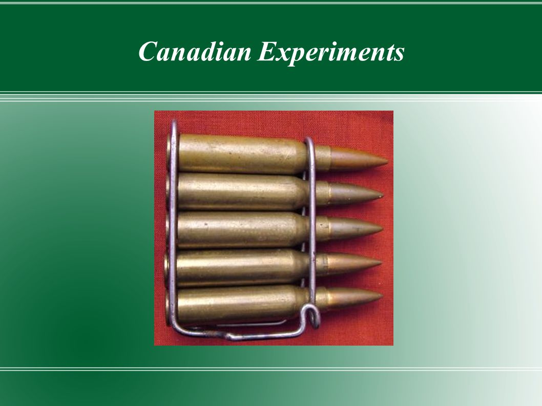 Canadian Experiments
