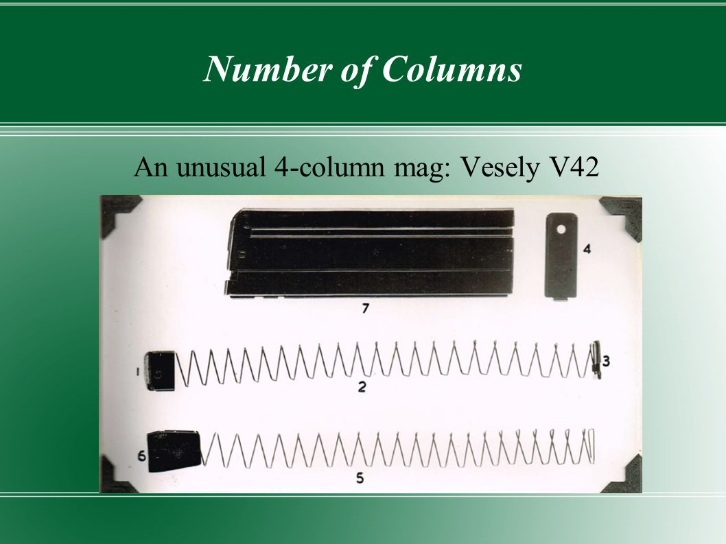 An unusual 4-column mag: Vesely V42